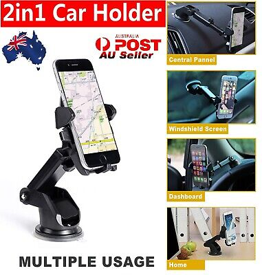 360° Universal Car Windshield Mount Stand Holder for Samsung IOS Phone GPS PDA