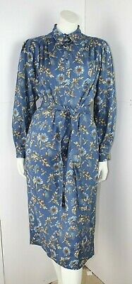 Liberty of London Belted Blue Floral Dress by Thomas & Jonathan of Canterbury 14