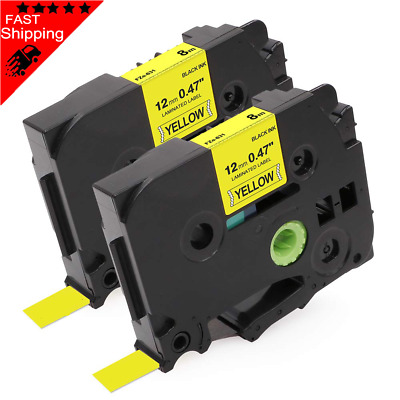 Brother Compatible TZ631 For P-Touch PT2450DX PT2450 12mm Black on Yellow Tape