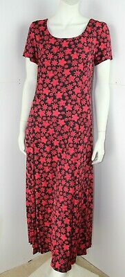 Liberty of London Red & Black Floral Dress by Thomas & Jonathan of Canterbury 10