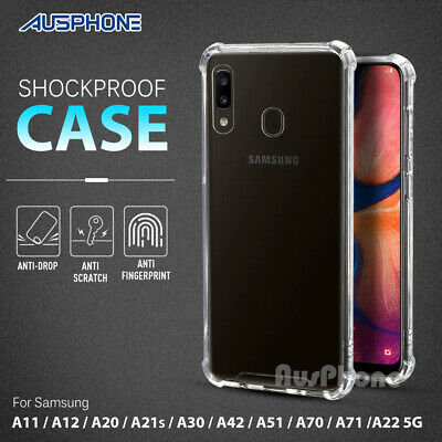For Samsung Galaxy A20 A30 A70 Clear Case Shockproof Gel Heavy Duty Tough Cover