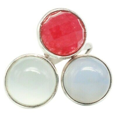925 Sterling Silver Chalcedony gemstone lovely Ring Size 8.5 US 6.45 g cci