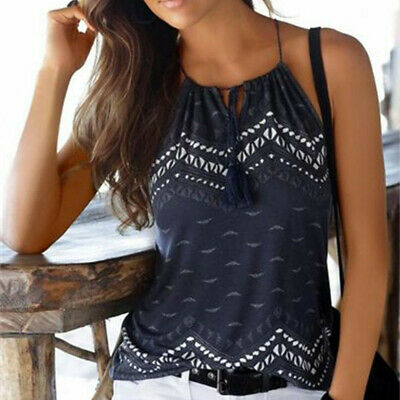 Women Summer Loose Sleeveless Casual Tank T-Shirt Blouse Tops Vest Camisole AB