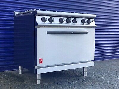 Commercial Falcon Dominator Plus 6 Burner Oven Range G3101D Natural Gas with Fee