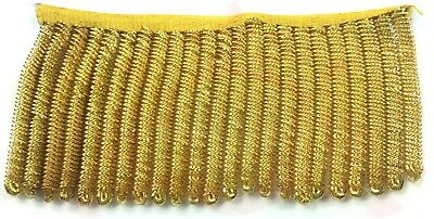 Gold Bullion Spiral Gilt Furnishing Fringe for Army, Military, Uniform, Costume