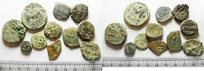 ZURQIEH -as13304- LOT OF 11 ANCIENT BRONZE BYZANTINE COINS