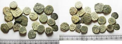 ZURQIEH -as13318- LOT OF 23 ANCIENT BRONZE ISLAMIC COINS. SOME SILVER