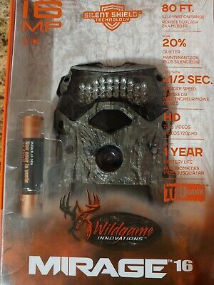 Wildgame Innovations  MP Mirage 16 treestand HD camera 80ft illumination