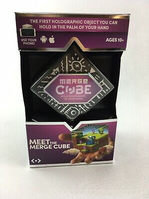 MERGE CUBE MEET THE MERGE CUBE AR/VR HOLOGRAMS For Apple & Android NEW Sealed