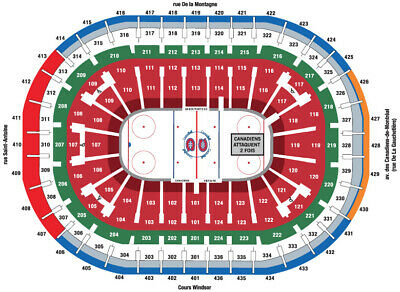 2 Columbus Blue Jackets at Montreal Canadiens Tickets 334 ROW B HABS SHOOT 2 X
