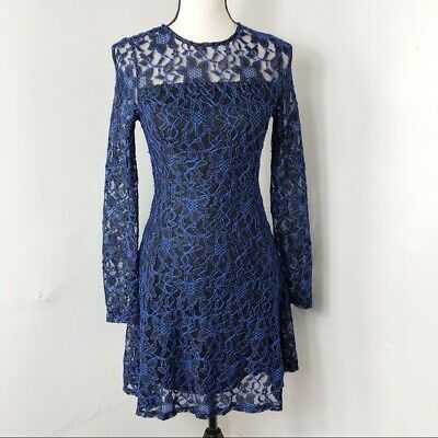 Lord Taylor Womens Dress Size 12p 12 Petite Navy Blue