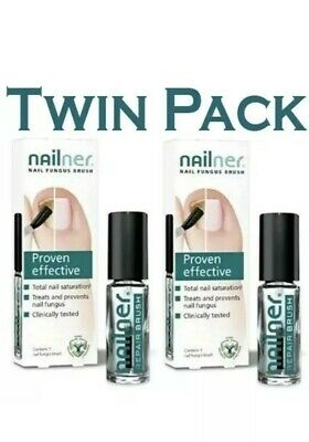 2 x NAILNER Repair Brush, Treats & Prevents Fungal Nail Infection, 5ml Nail Care
