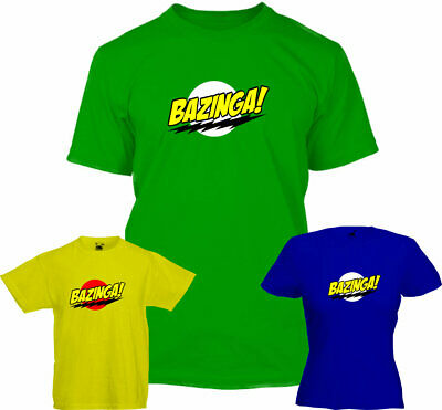 BAZINGA- T Shirts , Sheldon , The big bang theory , Geek , retro , comic con