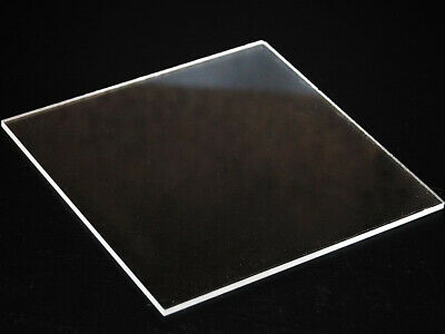 Clear  Acrylic Perspex Plastic Sheet Custom Cut To Your Specs Polished Edges!!