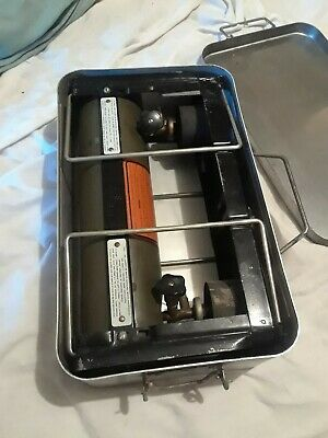 Coleman Stove WW2 US Military Army 1944 2-Burner Gas Field No. 523 AGMCO w/ Case