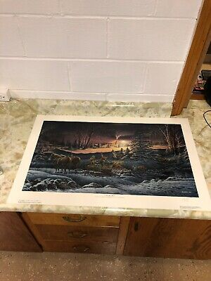 A Helping Hand Limited Edition Print Terry Redlin COA Signed 23 X 36