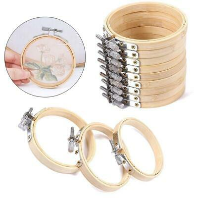 1/10pcs 8/10cm Bamboo Embroidery Circle Cross Stitch Hoop Ring Frame Sewing Tool