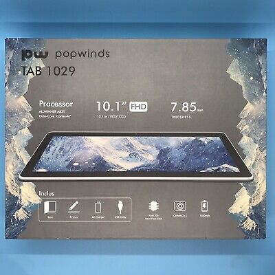"Popwinds 10.1"" Android Tablet 32GB Octa Core FHD Display IPS 1920x1200 M1029"