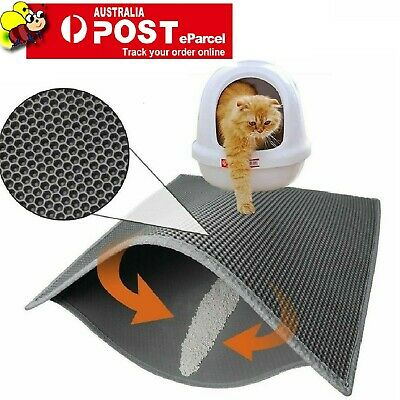 Cat Litter mat Large Kitty Litter Box Trapping SiftingMats Waterproof Urineproof