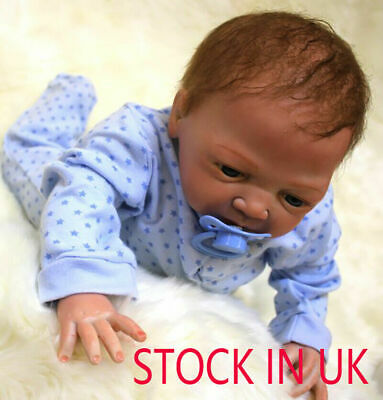 "20"" Full Body Realistic Reborn Dolls Lifelike Baby Boy Newborn Doll Gifts Child"