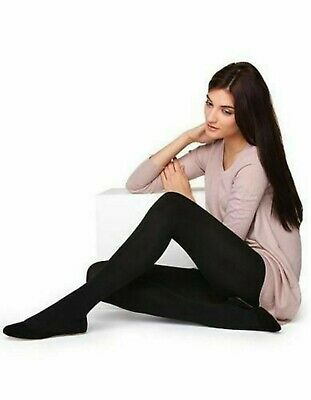 Women's Ladies Thermal Brushed Fleece Warm Tights Tog 4.9 Opaque Winter-Small