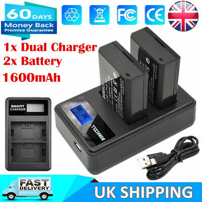 2x LP-E12 Battery +USB Dual Charger for Canon EOS M M2 M10 100D Rebel SL1 Camera