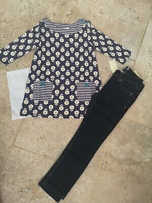 New In Bag Boden Tunic Top & Jeans Set Age 5-6