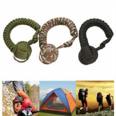 Outdoor Monkey Fist Keychain Keyring Military Useful Ball Survival 6N