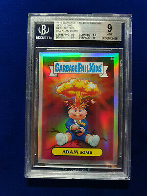 2013 Garbage Pail Kids Topps Chrome Series 1 Adam Bomb Refractor BGS 9 Mint