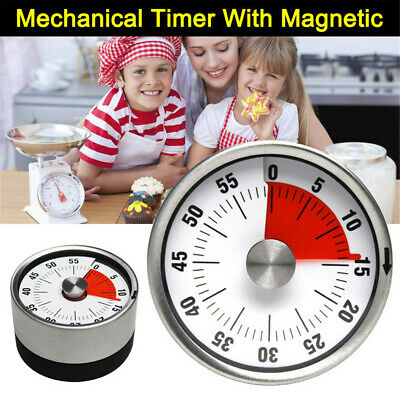 Kitchen Timer Magnetic Cooking Clock 60 Minute Mechanical Kitchen Cooking Timer