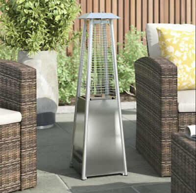 NEW 2000W Steel Glass Tube Garden Outdoor Patio Heater Gas Burner Table Top Fire