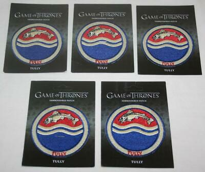 GAME OF THRONES Lot of 5 Embroidered TULLY Patch NEW HBO