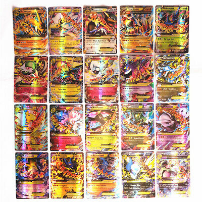 Wholesale 100Pcs Pokemon Cards 60EX+20GX+20Mega Holo Trading Flash Card Bundle