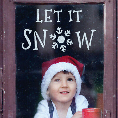 Let It Snow Window Stencil - Large Christmas Template by CraftStar