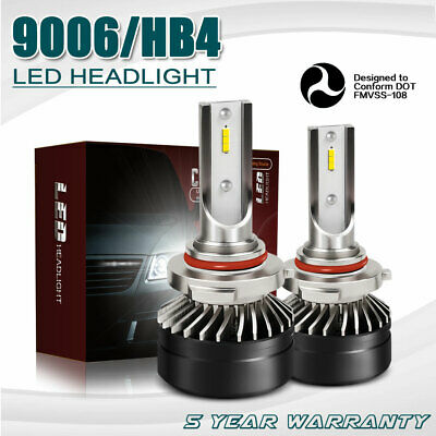 Pair 9006 HB4 DOT 12000LM 2-Sides LED Headlights Kits Low Beam 6000K Bulbs DT61