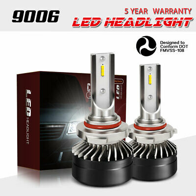 9006 HB4 LED Headlight Bulbs DOT 12000LM Kits Low Beam 6000K HID White Light DTB