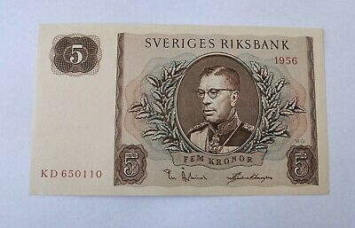 5 Kronor Banknote 1956 Uncirculated Note