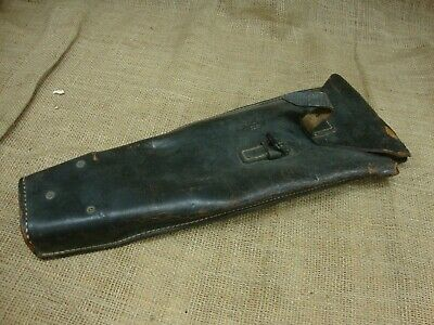 German WW2 1941 dated wire cutter pouch, black leather