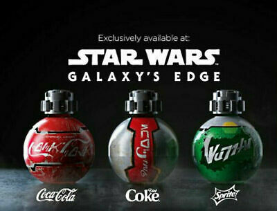 3 NEW Disneyworld Star Wars Galaxy's Edge Coca Cola Diet Coke Sprite SET bottles