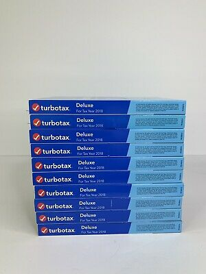 Lot Of 10 Turbotax Intuit DELUXE 2018 Federal + State E-File, Windows/Mac Sealed