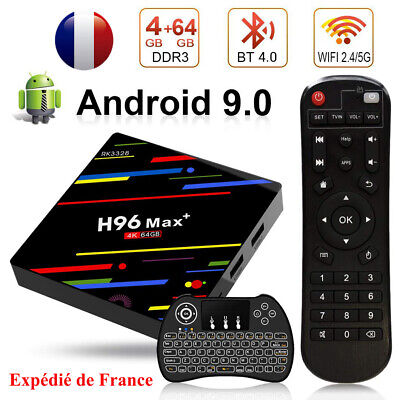 H96 Max+ Android 9.0 TV Box RK3328 Quad-Core 4GB 64GB WiFi 4K Smart Android Box