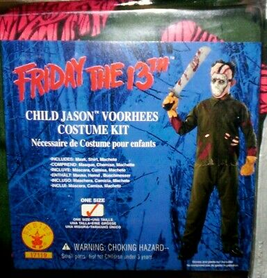 Jason Voorhees Child Size Costume VINTAGE NEW - One Size - FREE SHIPPING !!!