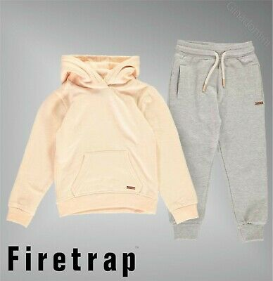 2 Piece Girls Firetrap Soft Block Colour Jogging Set Sizes Age from 2 to 7 Yrs