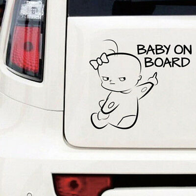 1PC Cute baby on board vinyl decal car sticker DIY reflective auto stickers VBSP