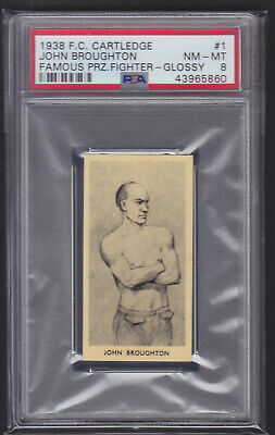 Cartledge - Famous Prize Fighters 1938 - John Broughton GLOSSY - PSA 8 NM-MT