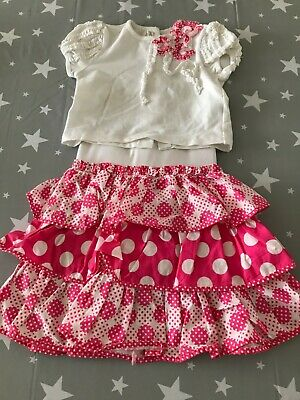 Abella Girls Tiered Skirt & Matching Top Outfit (Age 3 Years)
