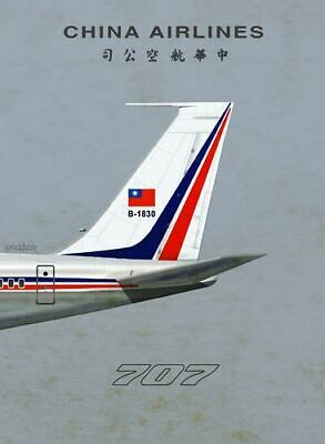 1960/'s BOAC Boeing 707 Poster A3 Print