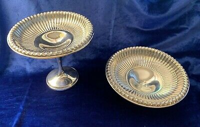 PAIR Revere Silver Co. Sterling Silver Pedestal Compote / Candy Dish #518 / #520