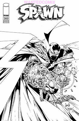 Spawn #300 Cover F Greg Capullo Sketch Variant Cover Anniversary Issue 1 2019