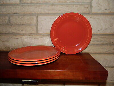 Fiesta 10.5 Dinner Plates in paprika set of 4 NEW  Fiestaware